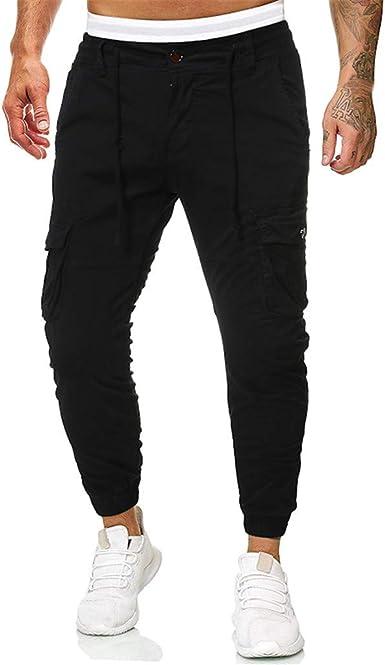 Amazon Com Alueeu Pantalones De Vestir Para Hombre Corte Ajustado Parte Delantera Plana Casual Color Puro Para Exteriores Con Bolsillo Para Playa Trabajo Cargo Pantalones Clothing