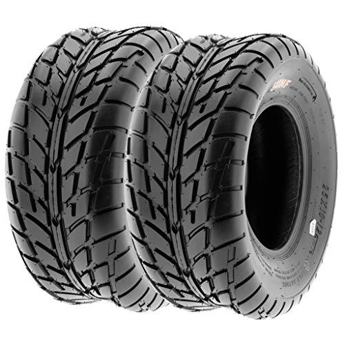 Pair of 2 SunF A021 TT Sport ATV UTV Dirt & Flat Track Tires 25x10-12, 6 PR, Tubeless