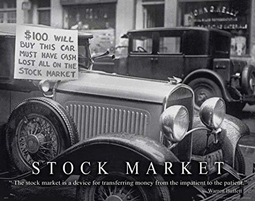 (Stock Market Motivational Poster Art Print 11x14 Warren Buffett Chicago New York Stock Exchange Wall Street)