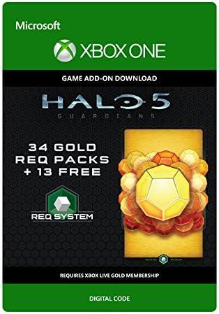 Halo 5 Guardians : ゴールド徴発パックx34 + 無料x13|オンラインコード版 - XboxOne