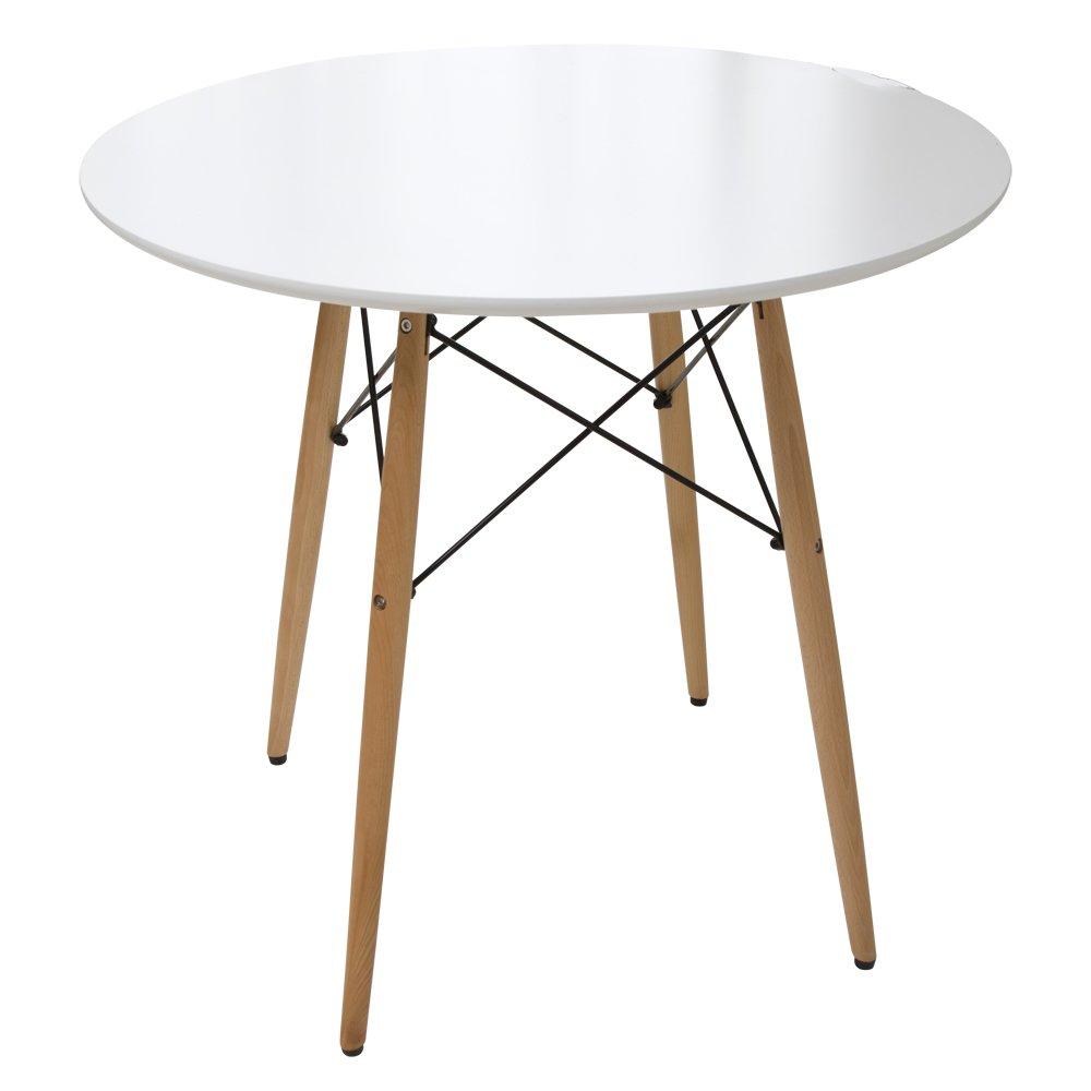 イームズテーブル ダイニングテーブル 丸型 ホワイト DT-02B B0761QLNK2