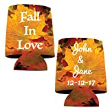 "VictoryStore Can and Beverage Coolers: Neoprene Customizable ""Fall In Love"" Autumn Wedding Can Coolers - 150pc"