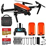 Drone With Camera - Autel Robotics EVO Foldable Drone Camera 60FPS 1080P 4K Camera Live Video with Wide-Angle Lens 30 Minutes Flying Time and Three-Way Obstacle Avoidance Mini Quadcopter (Extra 1 Battery)
