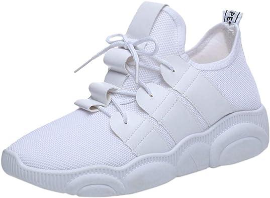 FAMILIZO Zapatillas Mujer Running Zapatillas Deportivas De Mujer Sneakers Women Primavera Ashion Mujer Malla Transpirable Zapatillas Casual Zapatos De Running para Estudiantes: Amazon.es: Zapatos y complementos