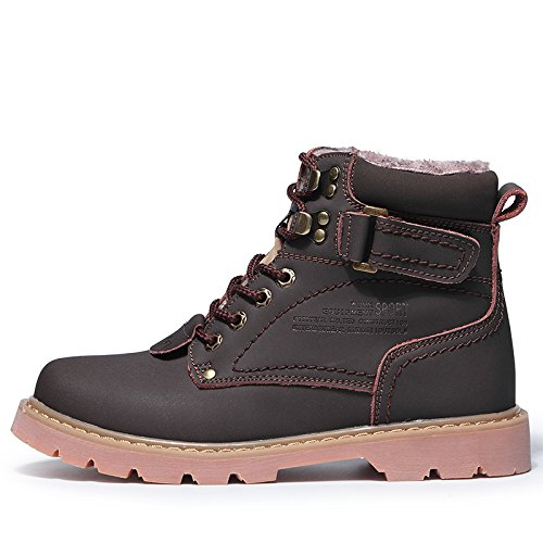 ENLEN&BENNA Women\Men's Work Boots Safety Boots Composite Toe Cap Waterproof Tan Casual Motorcycle Boot Lightweight B07F799Q9G 9.5 D(M) US|Brown2-fur