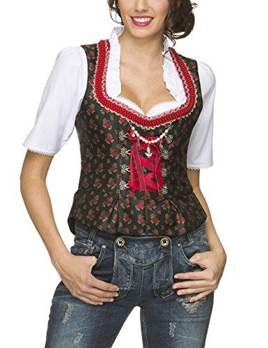 Stockerpoint Damen Trachtenbluse Mieder Ramona, Rot (Rot), 38
