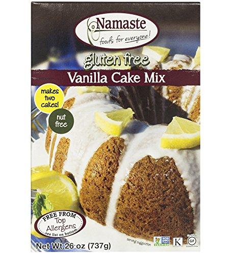Namaste Foods, Gluten Free Vanilla Cake Mix, 26-Ounce Bags (Pack of 6) - Gluten Free Vanilla Cake Mix