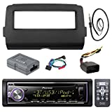 Audio Bundle For 2014 and Up Harley - Pioneer DEH-X6800BT Marine Bluetooth Radio USB AUX CD Receiver Bundle Combo With Dash Install Kit and Handle Bar Controller for Motorcycle, Enrock 22