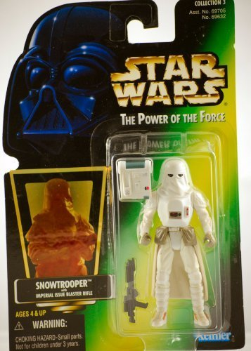 Star Wars, The Power of the Force Green Card, Snowtrooper Action Figure, 3.75 -