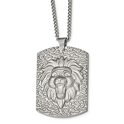 Jewelry Necklaces Necklace with Pendants Stainless Steel Matte Finish Lion's Head 24 inch Necklace