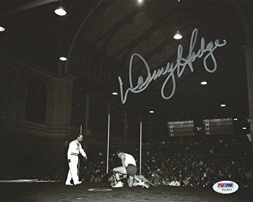 Olympic Memorabilia (Danny Hodge Signed 8x10 Photo COA 1956 USA Olympic US Wrestling Picture - PSA/DNA Certified - Autographed Wrestling Photos)