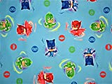 PJ Masks It's Hero Time 100% Microfiber (FLAT SHEET ONLY) Size TWIN Girls Kids Bedding