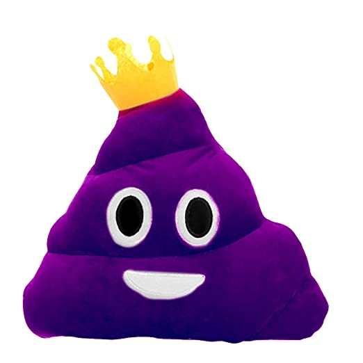 Bluelans – peluche almohada cojín Emoji caca con forma de Smiley Face muñeca juguete, Purple Queen, 20cm/7.87