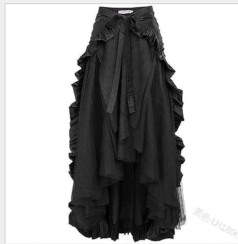 Huateng Falda Pirata para Mujer Falda Vintage Falda gótica ...