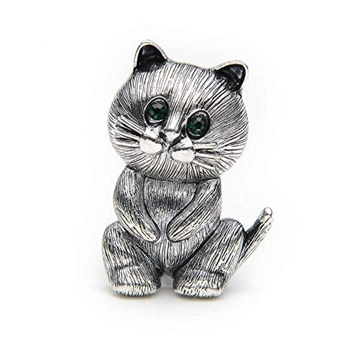 Lovely Fat Alloy Black Cat Brooch Pin Badge Emblem Corsage Suits Sweater Scarf Men and Women Girl Brooches Size 3.4X2.5Cm
