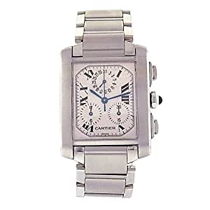 Cartier Tank Francaise automatic-self-wind mens Watch 2303 (Certified Pre-owned)