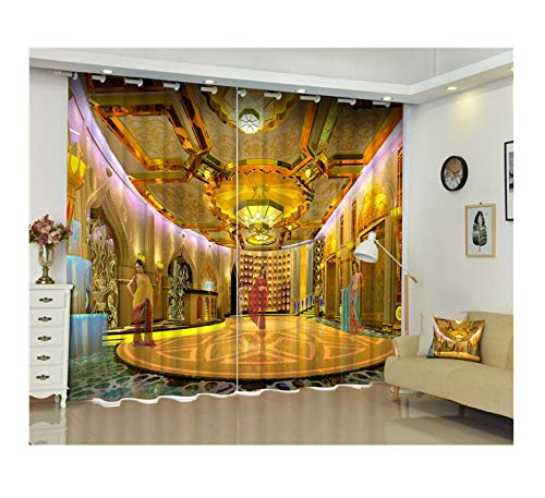CwdDqkd 3D Blackout Window Curtains Modern Luxury Fantasy India Dance Photos Kids Bedroom Living Room Hotel Drapes Cortinas