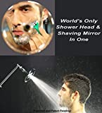 High Sierra's NEW ''Reflections'' Shower Head and Fogless Shaving Mirror In One. Made of Solid Aluminum that Naturally Heats Up While Showering. Guaranteed to Never Fog!