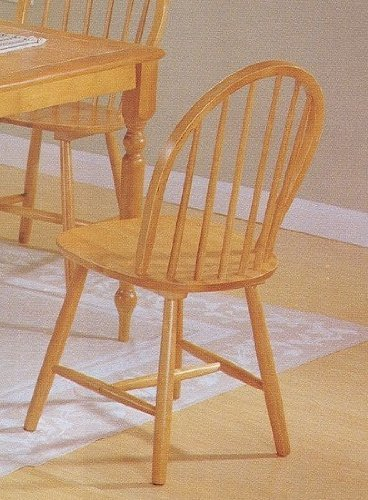 Country Oak Wood - Set of 4 Oak Finish Windsor Country Style Wood Dining Chair/Chairs