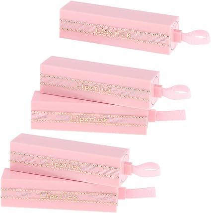 B Baosity 5 Pedazos Tubo de Lápiz Labial Envase de Brillos de Labios DIY Estuche de Plástico Botella Rosa: Amazon.es: Belleza