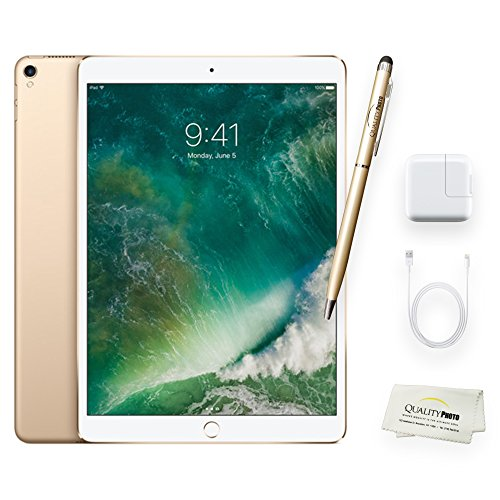 Apple iPad Pro 10.5 Inch Wi-Fi 64GB Gold + Quality Photo Accessories (Latest Apple Tablet) 2017 Model..
