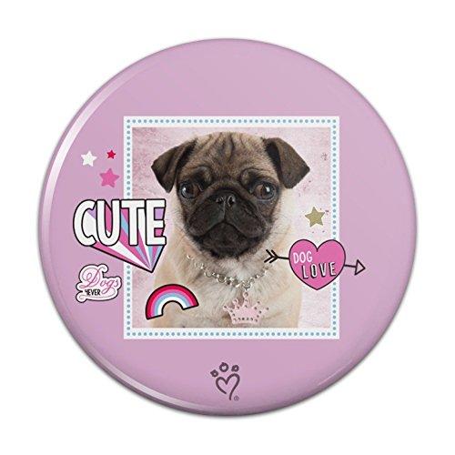 Pinback Button Love (Cute Pug Puppy Dog Love Pinback Button Pin Badge - 2.25