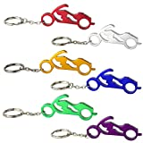 Swatom Motorcycle Aluminum Alloy Beer Bottle Opener Keychain, Key Tag Chain Ring, 50 Piece