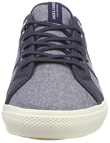 JACK & JONES Herren Jfwross Chambray Mix Sneaker Blau (Navy Blazer)