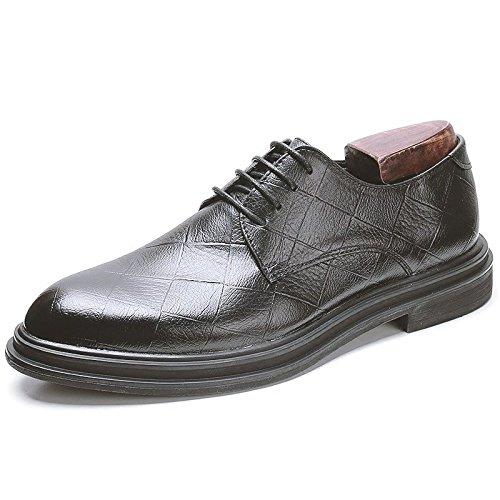 Scarpe Da Uomo Derby Classiche Da Uomo In Pelle Da Uomo Stile Classico Scarpe Oxford Con Lacci E Stringate Nere Formali Casual Black