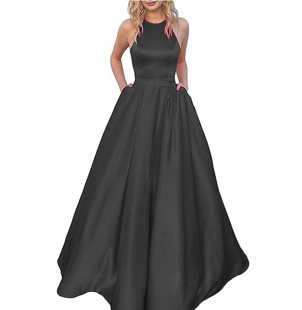 Tsbridal Womens Lace Up Sleeveless Homecoming Dresses Floor Length