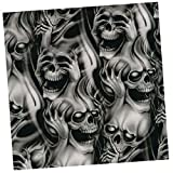 Dovewill 0.5 x 2m Hydro Dipping Hydrographics Water Transfer Film Skull Printing #1