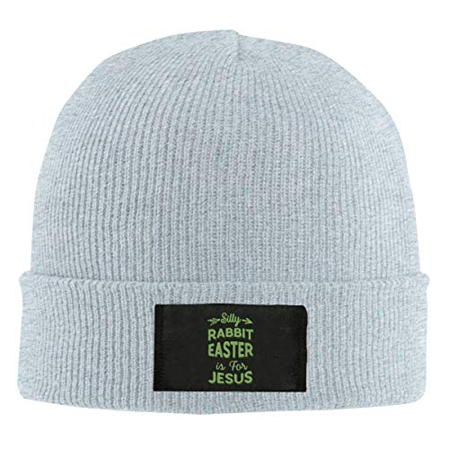 Unisex Silly Rabbit Easter is Jesus Easter Day Skull Cap Knit Wool Beanie Hat Stretchy Solid Daily Wear -