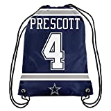 Forever Collectibles NFL Dallas Cowboys Dak Prescott #4 Player Drawstring Backpack For Sale