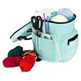 Yarn Storage Bag - Use Yarn Bag to Organize and Store Crochet and Knitting Yarn, Easy to Carry Light Weight Crochet Yarn Holder, Knitting Tote for Crochet Patterns and Hooks, Needles, Protect Yarn