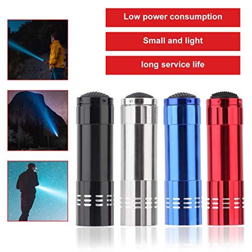 Zinniaya Multifunci/ón 9 LED Linterna UV Luz p/úrpura Alunum Aleaci/ón Antorcha Ahorro de energ/ía Papel port/átil L/ámpara de comprobaci/ón de dinero