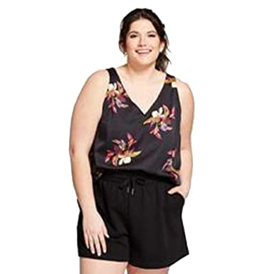 2230a68242b A New Day Women's Plus Size Floral Print Satin Shell Tank Top-4X ...