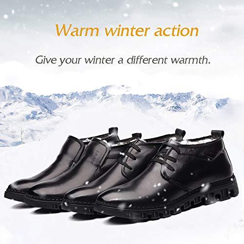 pelliccia esterno in Casual Miss antiscivolo da Boots foderato scarpe uomo altezza Blacka Snow inverno pelle Li caldo fqg6z