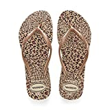 Havaianas Women's Slim Animals Flip Flop Sandal, Rose Gold, 7/8 M US