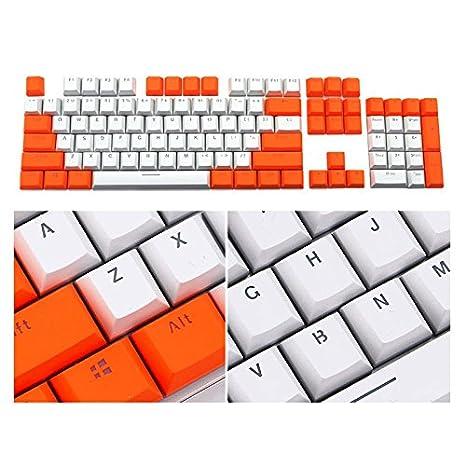 Contraste Color PBT - Juego de llaves para teclado mecánico Cherry MX (doble inyección,