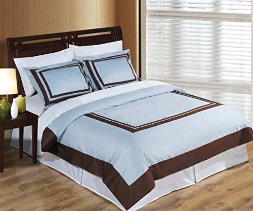 Chocolate Blue Comforters - 3