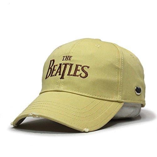 The Beatles Classic Adjustable Baseball Cap (Drop T Cream)