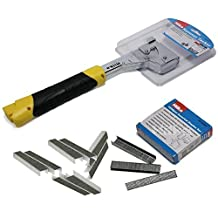 Hammer Tacker Hand Held & Assorted Staples - Carpet Stapler by Hilka
