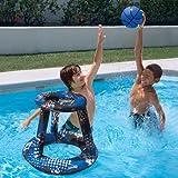 Swimways Spring Jam Basketball Swimming Pool Game Set Blue White