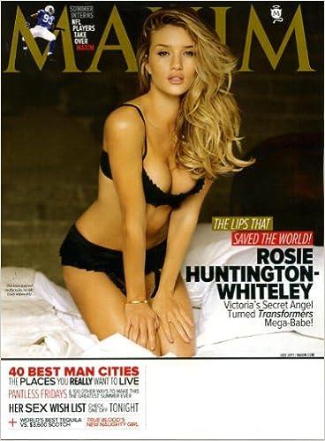 fda4104f8d Maxim July 2011 Rosie Huntington-Whiteley Transformers   Victoria s Secret  on Cover