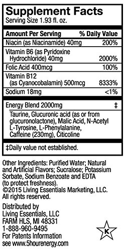 Extra Strength 5-hour ENERGY Shots – Blue Raspberry – 24 Count by 5-hour ENERGY (Image #3)