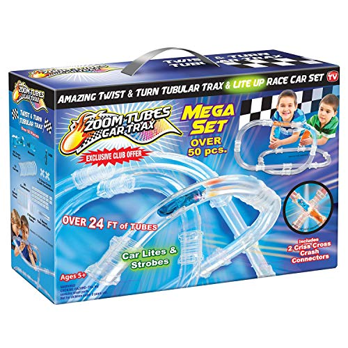 ZOOM TUBES CAR TRAX MEGA Set, 50-Pc RC Car Trax Set, used for sale  Delivered anywhere in USA