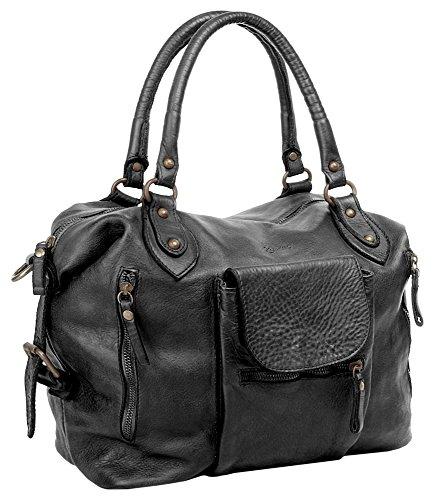 ZONE Noir shopping Femme Sac Leder echt X zpFvqRwF