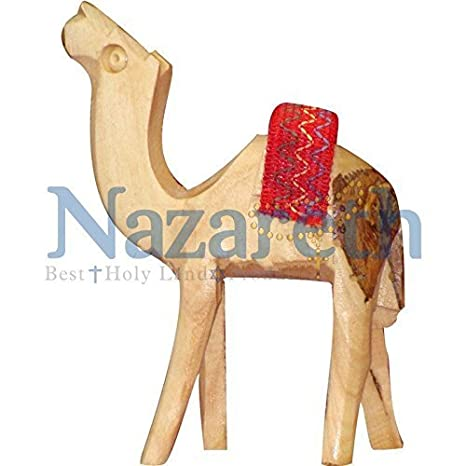 Amazon.com: Jerusalén Camel figura tallada a mano tallada a ...