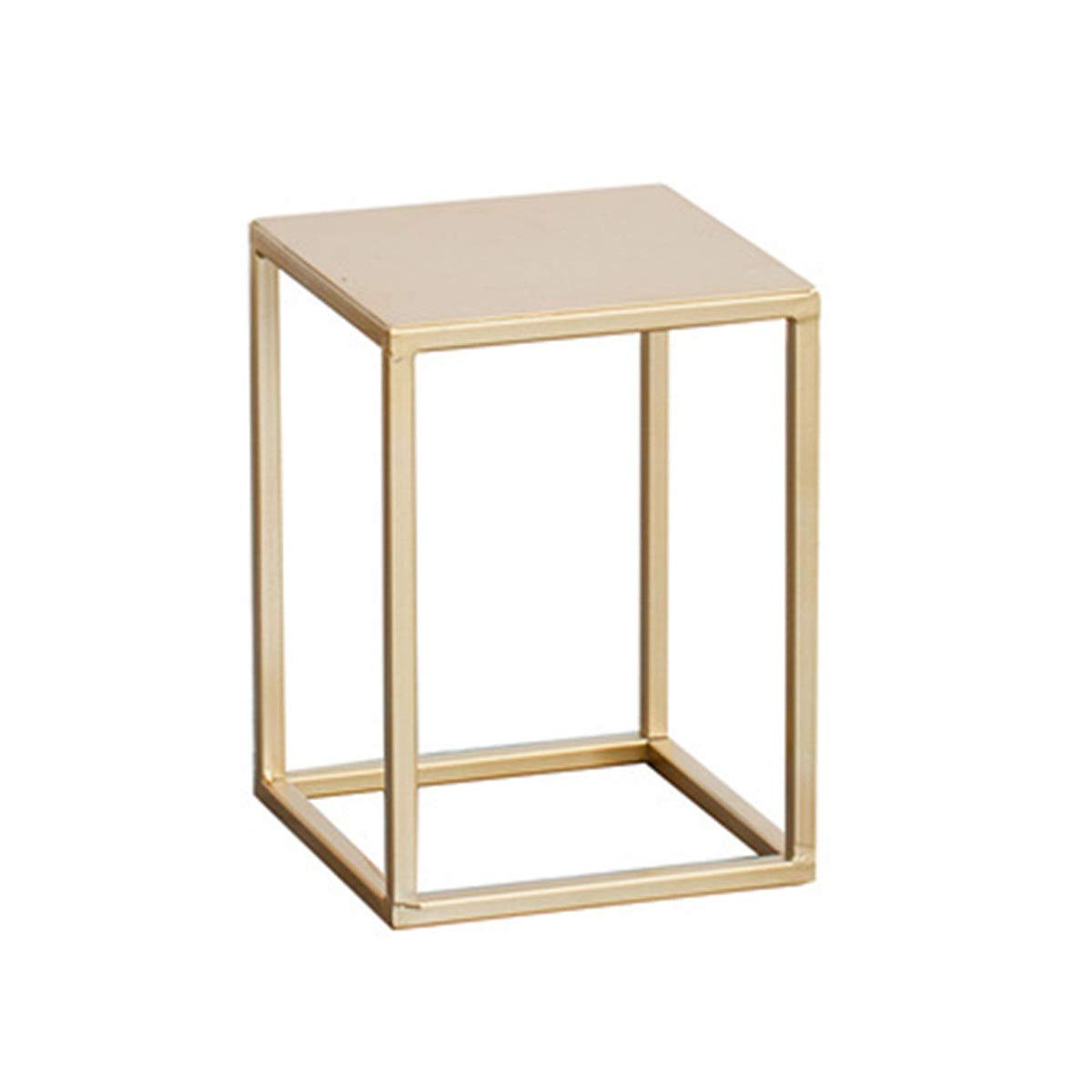JIUYAODIANZI Simple Modern Golden Wrought Iron Flower Stand, Living Room Frame, Suitable for Indoor Green Flower Pots and More Meat. (Size : S) by JIUYAODIANZI