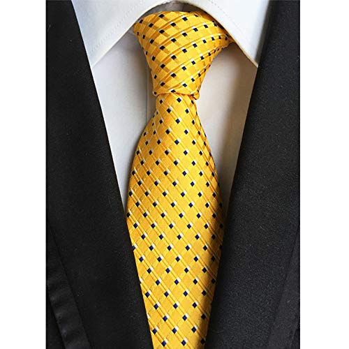 - Classic Men's Tie Business Tie Silk Necktie Checks Woven Jacquard Neck Ties